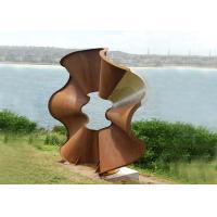 Beautiful Flower Shape Corten Steel Sculpture Modern Style For Outdoor