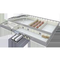 Buy cheap Huge Frozen Chill Blast Industry Modular Cold Storage  With Sustainable Continuous PUR PIR Insulated Sandwich Panel from wholesalers