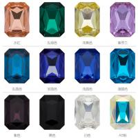 Buy cheap K9 Glass Rhinestones for Clothing Point Back 10 Sizes Rectangle Jewelry Stones Loose Strass Beads Glue on Crafty Hand from wholesalers