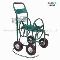 Buy cheap 4 Wheel Steel Garden Hose Reel Cart 350 Feet Weather Resistant With Non - Slip Handle product