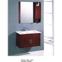 Buy cheap Sanitary ware Solid Wood Bathroom Cabinet modern Feature 80 X 47 / cm from wholesalers
