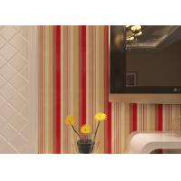 China Washable Living Room Striped Wallpaper / Modern Embossed Wall Coverings , CE CSA Listed on sale