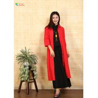 Buy cheap Long Women Red Chinese Jacket , Double Layer Chinese Quilted Coat For Spring from wholesalers