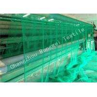 Buy cheap Sea Green HDPE Plastic Fishing Nets , Durable Knotted PE Rope Netting 40gsm - 150gsm from wholesalers
