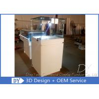 Buy cheap Wood Square Glass Jewelry Display Case / Pedestal Showcase With Cabinet Locks product