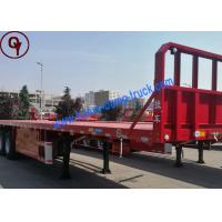 Buy cheap Hydraulic Low Bed Heavy Truck Trailer 3 Axles / 4 Axles Flatbed Semi Trailer from wholesalers