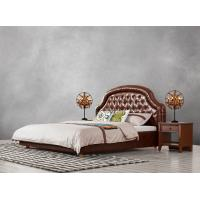 Buy cheap Good quality Gery Fabric Upholstered Headboard Queen Bed Leisure Furniture for from wholesalers