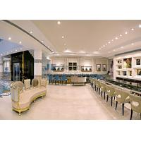 Buy cheap Neo Classical Jewerly shop fitting display cases in white marble with Glass showcase and Luxury upholstery cushion sofa from wholesalers