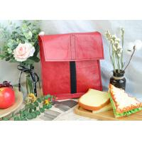 Buy cheap Red Color Foldable PP Woven Shopping Bag With Black Velcro Strip Clutch from wholesalers