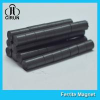 Buy cheap Hard Cylinder Ferrite Magnet For Rotors / Fridge SGS RoHS Certification product