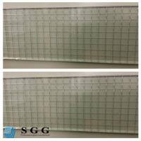 Buy cheap Excellence quality Safety Building 6mm clear wired glass prices from wholesalers