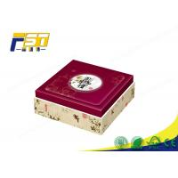 Buy cheap Custom Cardboard Wine High End Packaging Boxes , Red Mooncake Packaging Box from wholesalers