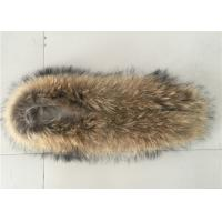 Buy cheap Large Detachable Raccoon Hood Trim , Natural Color Overcoat Fur Collar  from wholesalers