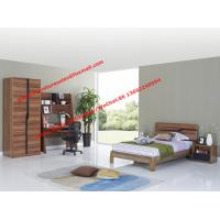 Buy cheap Children School bedroom furniture suite by double size bed and bookcase sets in MDF melamine from wholesalers