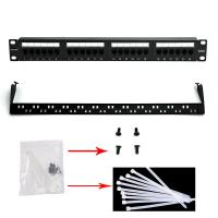 Buy cheap WONTERM Unshielded 19'' 24 Port Cat6 Patch Panel ABS-UL-94V0 from wholesalers