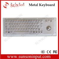 Buy cheap 65 illuminated keys industrial PC kiosk backlight metal keyboard with optical trackball from wholesalers