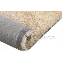 Buy cheap Custom Polyester Silky Shaggy Rug, Modern Milky White Floor Rugs For Living Room from wholesalers