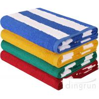 Buy cheap Stripe Cotton Bath Towels Plain Woven 30  X 60  High Absorbency For Swimming from wholesalers