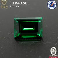 Buy cheap AAA/AAAAA Grade(Korean machine cut) Nano Green Emerald Cut Synthetic Diamond from wholesalers