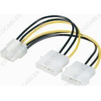 Buy cheap PCI-E Plug 8pin To IDE Power Plug 4pin Molex Cable Assembly / Wire Harness Cable Assembly from wholesalers