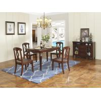 Buy cheap Rubber Wood Home dining room furniture Long and round dining table with 4/6 people Chair can by Upholstered cushion seat from wholesalers