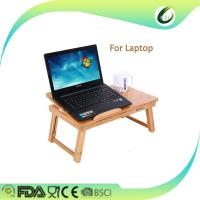 Buy cheap Bamboo laptop desk adjustable breakfast serving bed tray from wholesalers