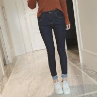 Buy cheap Dark Blue Tall Womens Slim Straight Leg Jeans , High Waisted Sexy Women Jeans from wholesalers