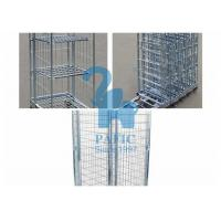 Buy cheap Electroplating Steel Nestable Roll Containers , Four Wheels Security Storage Cage from wholesalers