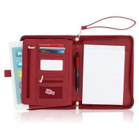 Buy cheap Women's Leather Portfolio Folder , Red Faux Leather Business Folio Binder Organizer from wholesalers