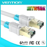 Buy cheap White Bule Cat6a 5m Patch Cord Cable for Computer RJ45 Twisted Pair Double Shielded PVC Jacket from wholesalers