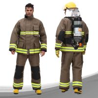 Buy cheap Para Aramid Fireman Suit Custom Color FR Zipper Front Closed With Tool Packet from wholesalers