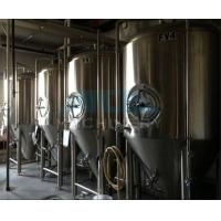Buy cheap beer brewing equipment/dimple plate jacketed beer fermenter, bright beer tank 100-3000L from wholesalers