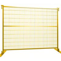 Buy cheap Canada Temporary Mesh Fencing , Building Site Fencing With Plastic Feet And Iron Feet from wholesalers