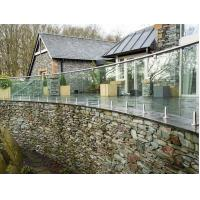 Buy cheap Exterior stainless steel railings price with toughend glass from wholesalers