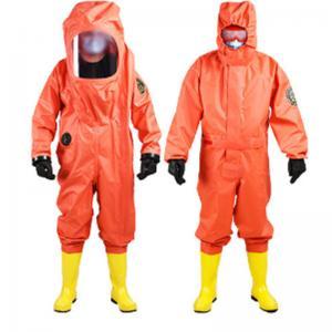 Buy cheap Disposable PVC XL Hazmat Chemical Refusal Suit Conjoined product