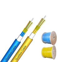 Buy cheap Multi Tube Breakout Tight Buffer Indoor Optical Fiber Cable GJFPV Blue / Yellow Color from wholesalers