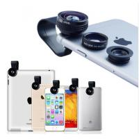 Buy cheap 3 in 1 Clip Phone Lens Kits 180 Degree Fisheye Lens + 0.67X Wide Angle +10X Macro Lens for iPhone 6 7 Samsung Xiaomi from wholesalers