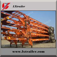 Buy cheap Hot sale 3 axle 40 ft skeleton used container trailer for sale from wholesalers