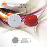 Buy cheap RH-AUDIO Professional Fireproof Full Range Passive Ceiling Speaker with Red Metal Cover for Fire Alarm System from wholesalers