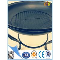 Buy cheap Round steel metal Patio Brazier fire pit covers with lid and 4 legs Customized from wholesalers