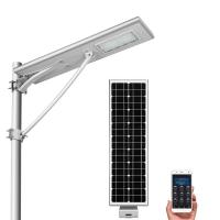 Buy cheap Remote Control Solar Street Lamp , Solar Powered Outdoor Lights 20w 40w 60w from wholesalers