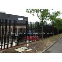 Free Standing Edging Metal Palisade Fencing With Base Plates For Bolt Down