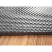Buy cheap Non - Toxic Odourless Black Groove Grip Top Textured EVA Foam Shoe Sole Sheet from wholesalers