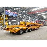 Buy cheap 3 Axles 60T Gooseneck Low Bed Semi Trailer from wholesalers
