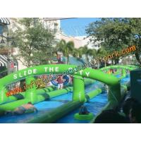Buy cheap 300m PVC Tarpaulin Giant Inflatable Water Slide Little Tikes Outdoor from wholesalers