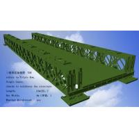 Corrosion Resistance Modular Steel Bridges TS Triple Single Type Bailey Bridge