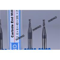 SiN Coating HRC60 Micro End Mill Bits With 1.0 mm Cutting Lenth 0.5 mm Diameter