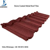 China German Lightweight Stone Chips Coated Type Steel Roofing / Metal Galvanized Steel Shingle Roof Tiles on sale