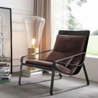 Buy cheap Black Color Leather Lounge Chair For Relaxation And Socializing from wholesalers