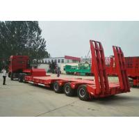 Buy cheap Low Bed Heavy Duty Semi Trailers , 3 Axle Semi Trailer 50 To/ 60 To / 70 ton from wholesalers